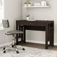 Porch & Den Bywater Rampart Laurel Espresso Wood Desk