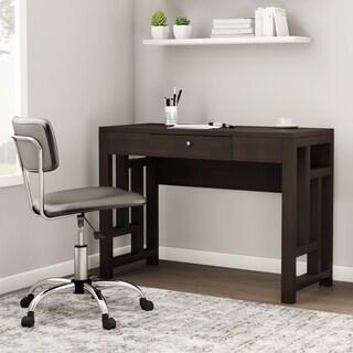 Porch & Den Bywater Rampart Laurel Espresso Wood Desk