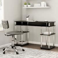 Convenience Concepts Designs2Go Black Plastic, Steel, Wood No Tools Student Desk