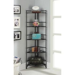 Porch & Den Ferdinand Metal 13.75 x 58-inch 5-tier Folding Corner Shelf