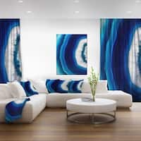 Porch & Den Blue Agate Crystal - Abstract Digital Art Canvas Print