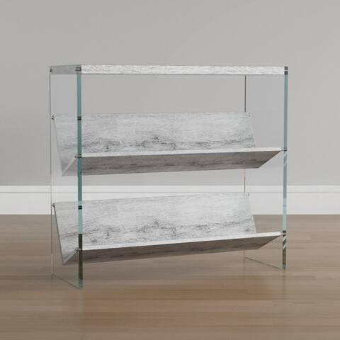 Porch & Den Urqhuart Glass/ Wood Bookcase