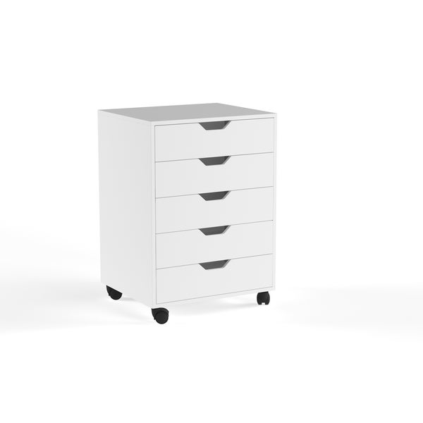 Porch & Den Eastridge Mulder White 5-drawer Cabinet