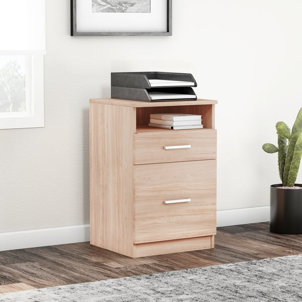 OS Home and Office Model 22220 Two Drawer File with metal drawer guides that goes with model 22222 adjustable desk.