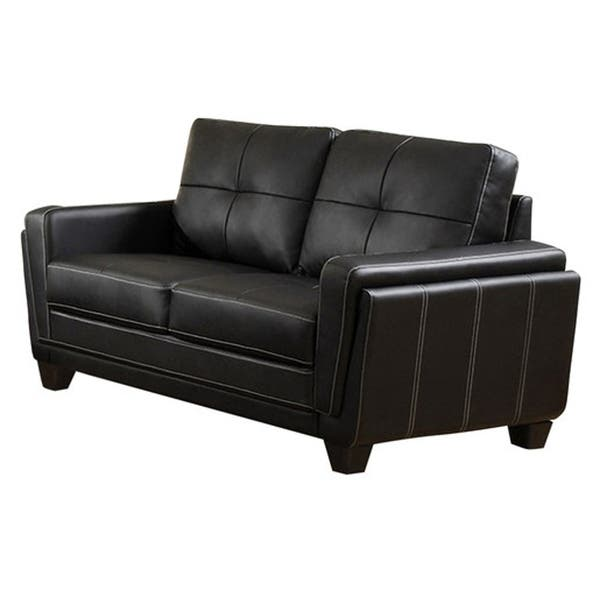 Tremendous Shop Leatherette Upholstered Wooden Love Seat With Tapered Gamerscity Chair Design For Home Gamerscityorg