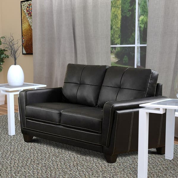 Astounding Shop Leatherette Upholstered Wooden Love Seat With Tapered Gamerscity Chair Design For Home Gamerscityorg