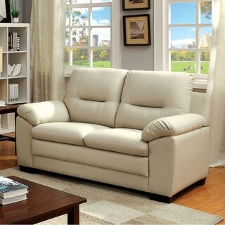 Parma Contemporary Love Seat, Ivory