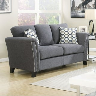 Campbell Contemporary Love Seat, Gray