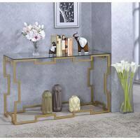 Furniture of America Blaire Gold-tone Sofa Table