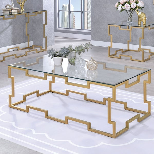 Shop Furniture Of America Blaire Contemporary Gold And