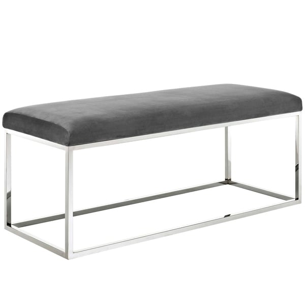 Gaze White Fabric Bench