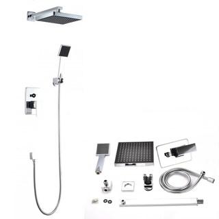 Bathroom Shower Head Arm Control Valve Hand Spray Rain Shower Faucet
