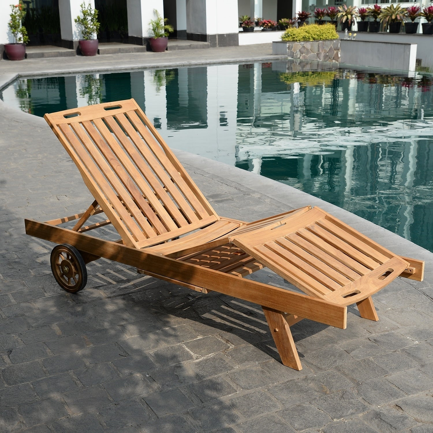 Picture of: Shop Black Friday Deals On Leon Teak Chaise Lounge By Havenside Home Overstock 19427779