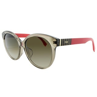 Fendi Round FF 0013/F 7TL Womens Crystal Brown Frame Brown Gradient Lens Sunglasses