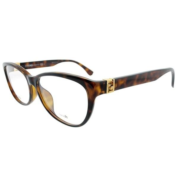 c79507e1219 Shop Fendi Cat-Eye FF 1005 F EDJ Womens Havana Frame Eyeglasses ...