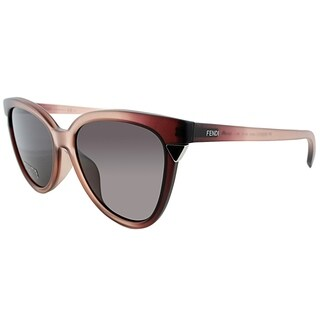 Fendi Cat-Eye FF 0125 N6F Womens Pink Clear Frame Grey Gradient Lens Sunglasses