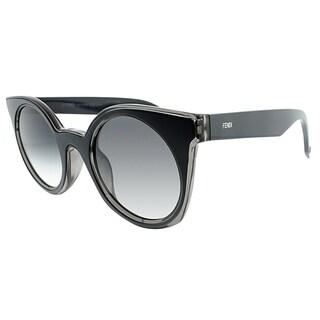Fendi Cat-Eye FF 0196/F L1A Womens Grey Blue Frame Grey Gradient Lens Sunglasses
