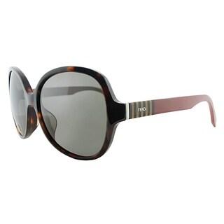 Fendi Round FF 0147/K N6X 8H Womens Havana Frame Grey Lens Sunglasses