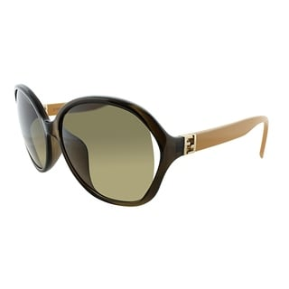 Fendi Round FF 0032/F 7QQ Womens Brown Ochre Frame Brown Gradient Lens Sunglasses