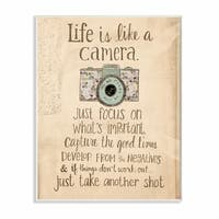 Stupell Industries Life Is Like A Camera Inspirational Wall Art