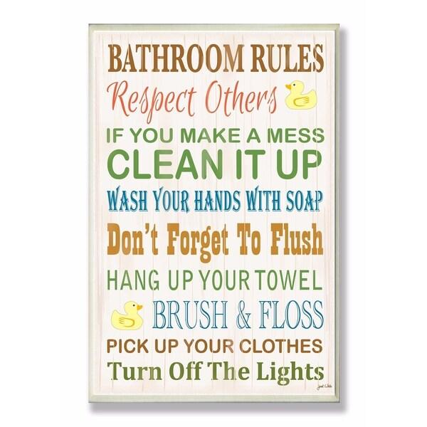 Bathroom Rules Wall Art Canada