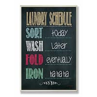 Stupell Industries Laundry Schedule Chalkboard Bathroom Wall Art