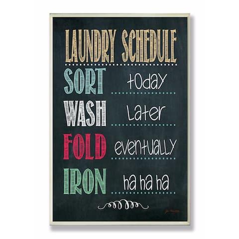 Stupell Industries Laundry Schedule Chalkboard Bathroom Wall Art