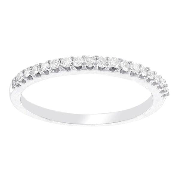 H Star 10 Karat White Gold 1 7ct Diamond Wedding Band I J I2