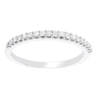 H Star 10 Karat White Gold 1/7ct Diamond Wedding Band (I-J, I2-I3)