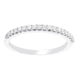 H Star 10 Karat White Gold 1/7ct Diamond Wedding Band (I-J, I2-I3)
