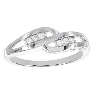 H Star Sterling Silver 1/10ct TDW Diamond Ring (I-J, I2-I3) - White