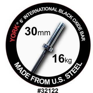 YORK 6' International Black Oxide Bar