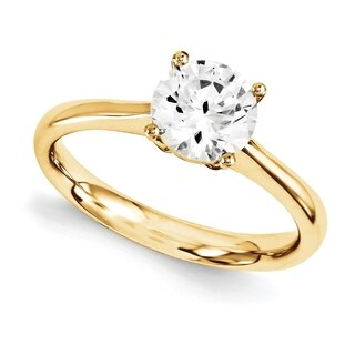 14 Karat Yellow Gold True Light Moissanite Solitaire (More options available)