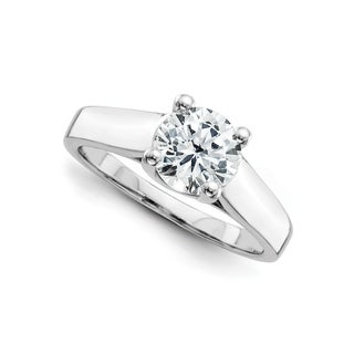 14 Karat White Gold True Light Moissanite Solitaire