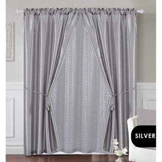 Dainty Home Complete 5-Piece Window Curtain Set