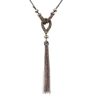 Handmade Saachi Crystal Knot Necklace (China)