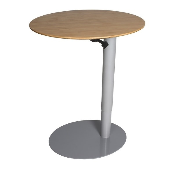 "Frasch 26""x20"" Oval Height Adjustable Cafe Table with Gas..."