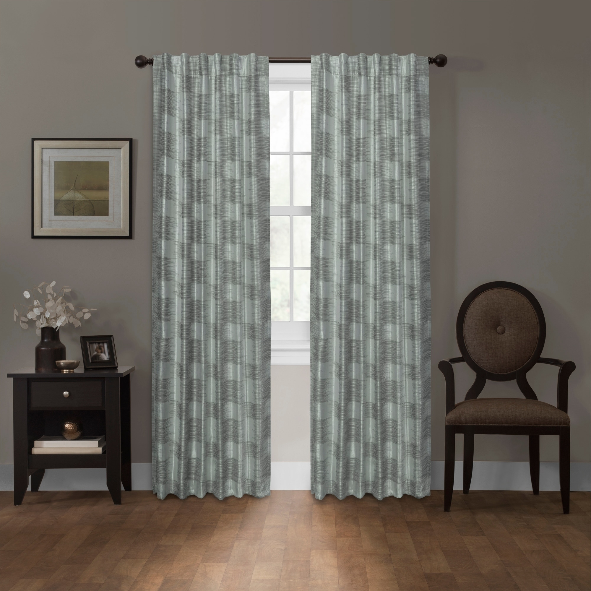 double thermal tab insulated solid curtains top width color green sage back grommet weathermate drapes
