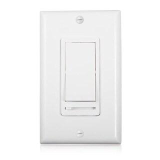 Maxxima 3-Way / Single Pole Decorative LED Slide Dimmer Rocker Switch, 600 Watt Max, Wall Plate Included