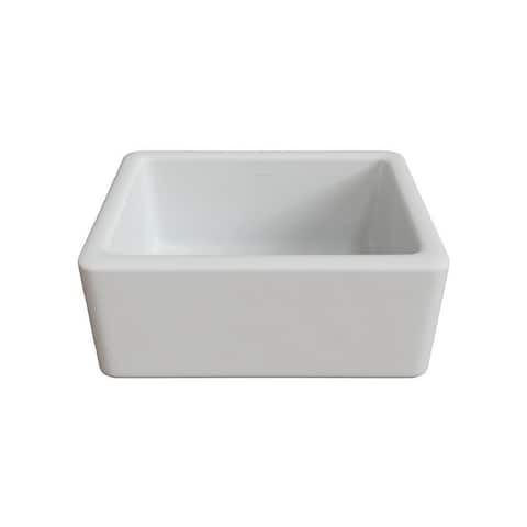"LaToscana 24"" x 18"" Reversible Farmhouse Fireclay Sink"