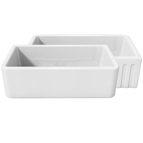 LaToscana Fireclay 33-inch x 18-inch Reversible Farmhouse Sink