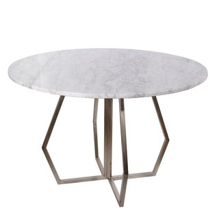 Stepney Marble Round Dining Table, 36x30""