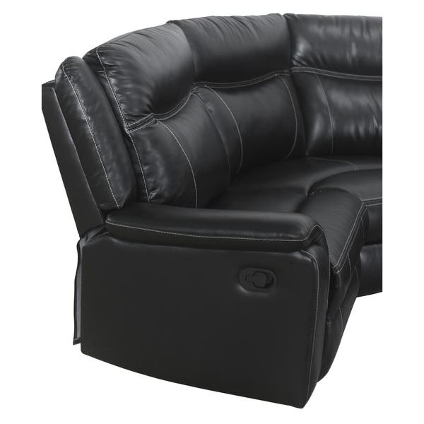 Outstanding Shop Abbyson Everett Black Reclining Sectional With Console Pdpeps Interior Chair Design Pdpepsorg