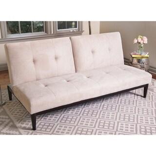 Abbyson Regina Velvet Futon Sofa Bed
