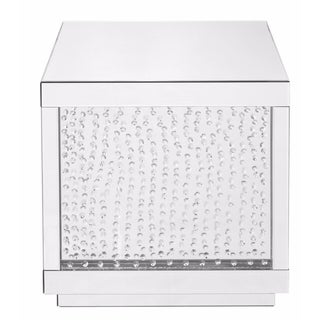 Square Clear Mirror Crystal 24-inch End Table