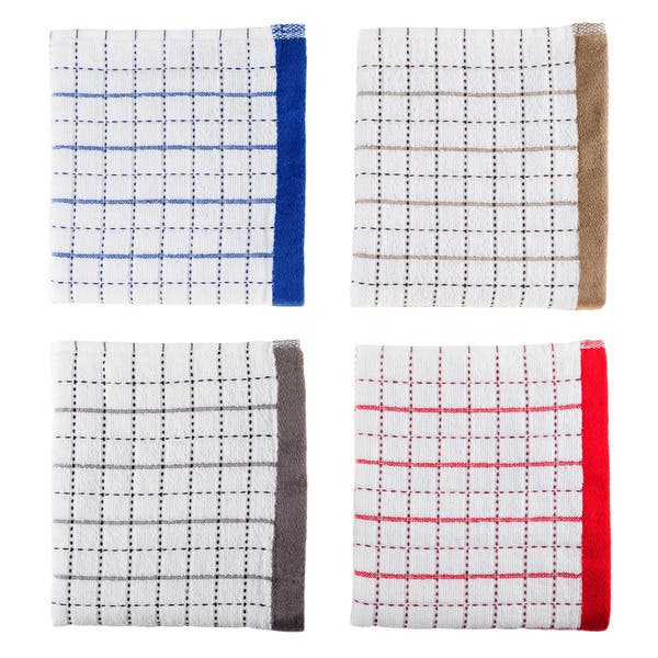 DecorRack 8 Pack Kitchen Dish Towels Machine Washable Washcloths 100/% Cotton Wash Cloth Coffee 8 Pack Luxurious Soft 12x12 inch Ultra Absorbent