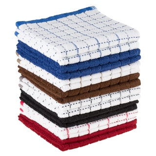 Dish Cloths Pack, Set of 16 Kitchen Wash Towels, Cleaning/Drying by Windsor Home