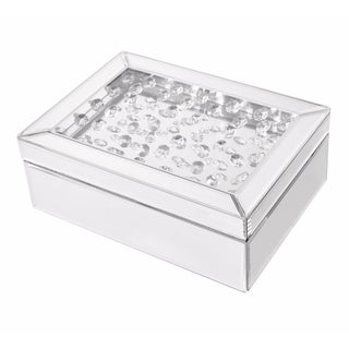 Sparkle 10 in. Contemporary Crystal Jewelry box in Clear