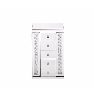 Sparkle 12 in. Contemporary Crystal Jewelry box in Clear