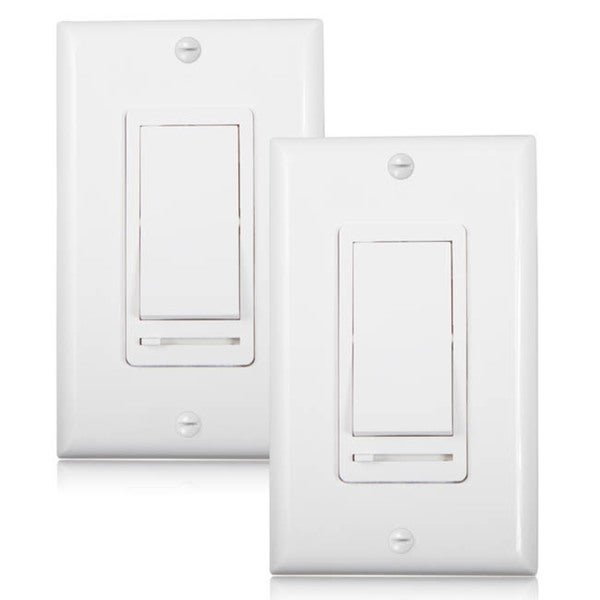 Maima 3 Way Single Pole Decorative Led Slide Dimmer Rocker Switch Wall Plate